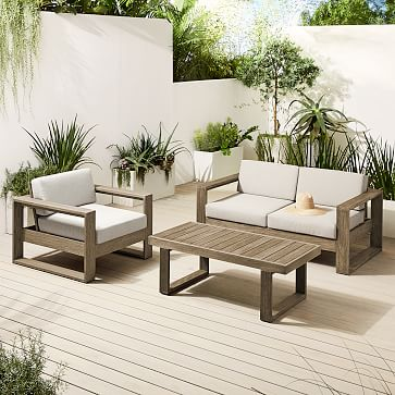 Portside Outdoor Lounge Chair, Driftwood