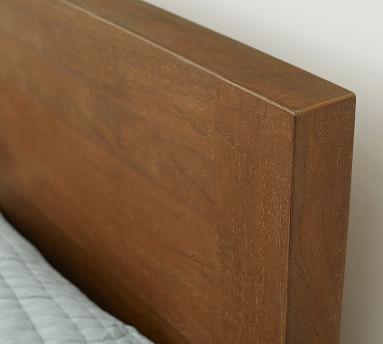 Reed Platform Bed, Full, Antique Umber