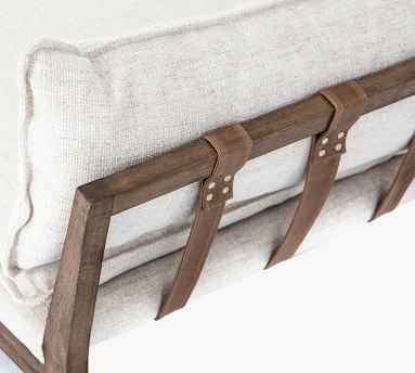 Orland Upholstered Chaise, Thames Cream & Natural