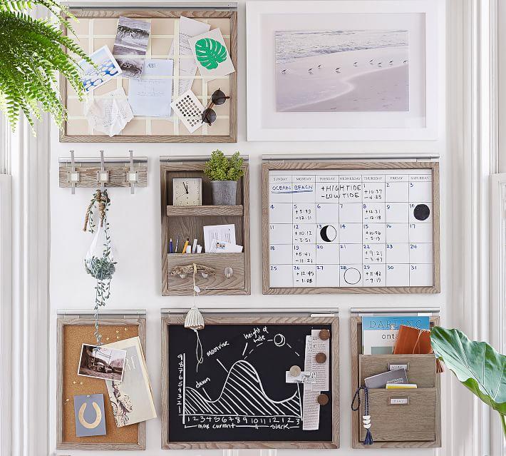 Daily Modular Wall System, Whiteboard Calendar, Livingston Gray