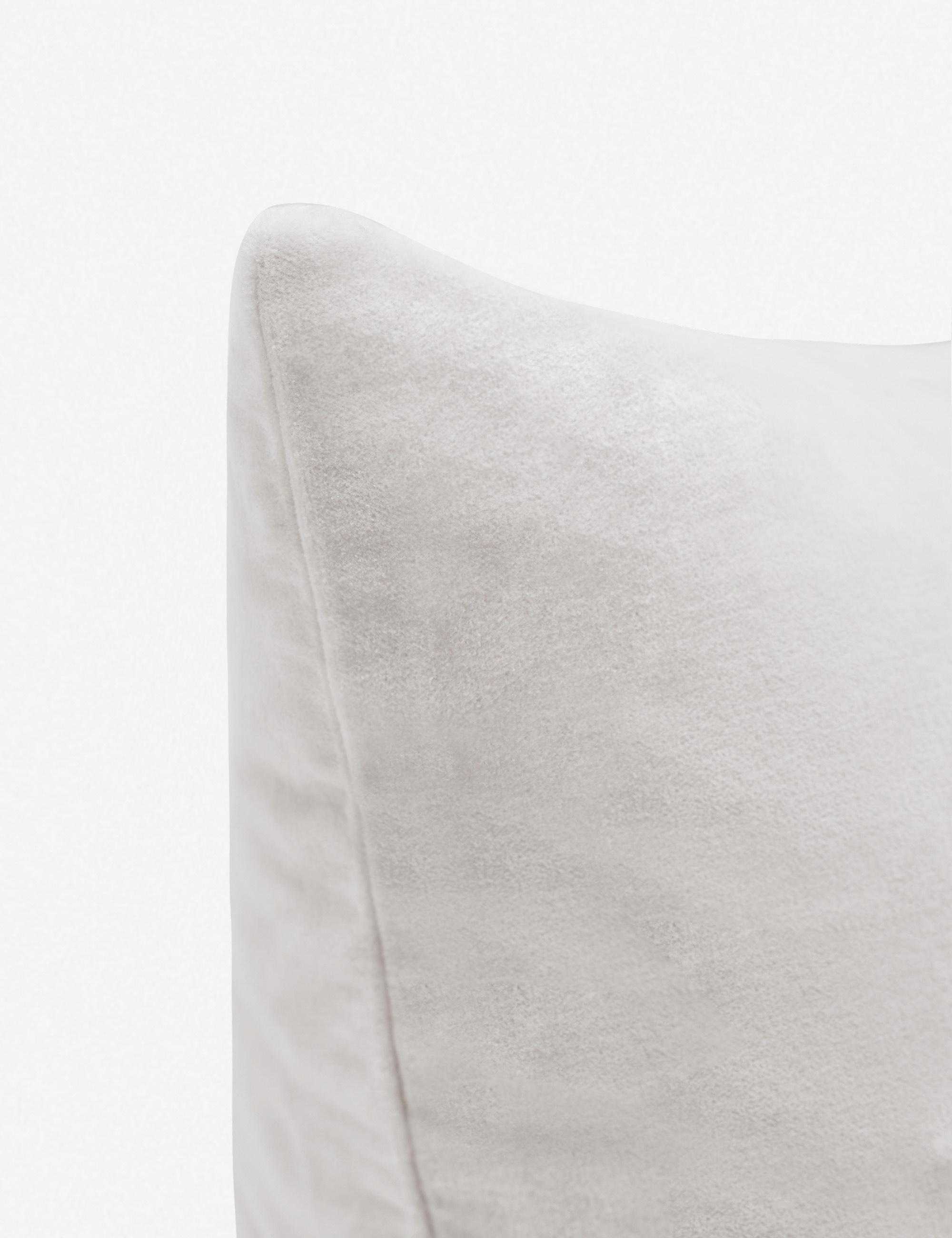 Charlotte Velvet Pillow, Oyster