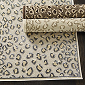 "Celine Cheetah Rug Champagne 5'3"" x 7'6"" - Ballard Designs"