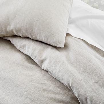 European Flax Linen Duvet, Full/Queen Duvet Cover & Sham Set, Midnight