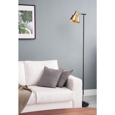 Bromi Design Bryant Brass Floor Lamp