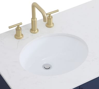 "Riola 36"" Single Sink Vanity, White"