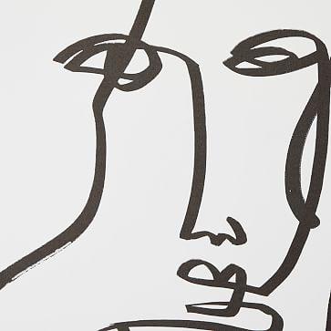 Drop It MODERN Femme Wallpaper, Black/White