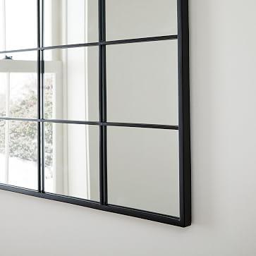 """Raven Window Mirror, Dark Bronze, 28""""x33"""""""