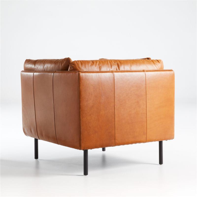 Wells Leather Tuxedo Chair