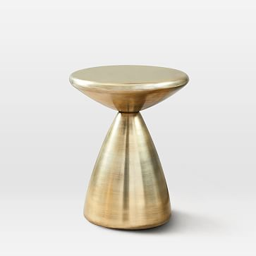 Cosmo Side Table, Antique Brass