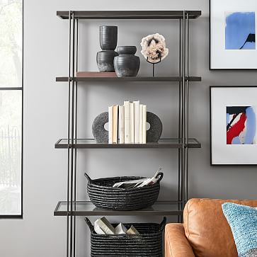 Lava Rock Bookends, Anchor Gray, Set of 2