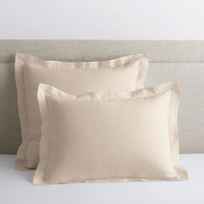 The Company Store Solid Washed Parchment Linen King Sham