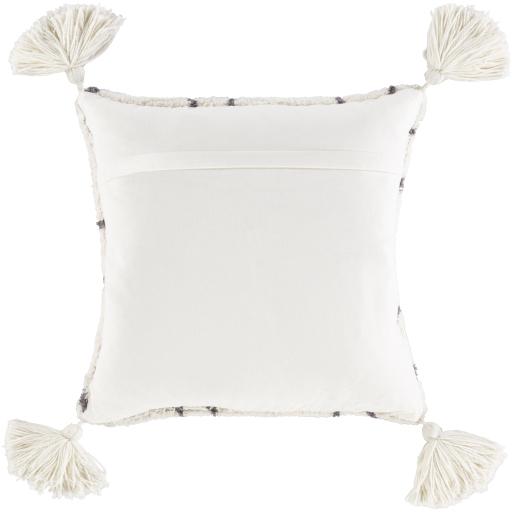 "Omari Pillow, 20"" x 20"", Cream"