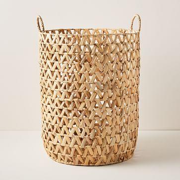 Open Weave ZigZag Baskets, Hamper