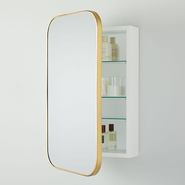 Seamless Medicine Cabinet, Dark Bronze