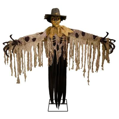 Home Accents Holiday 6 ft. Animated LED Flaming Scarecrow