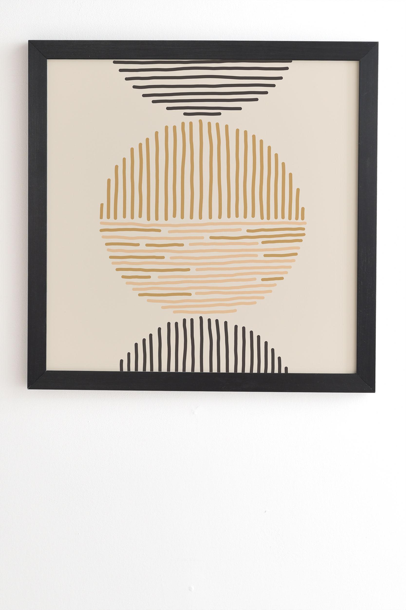 "One Last Swim by Urban Wild Studio - Framed Wall Art Basic Black 30"" x 30"""