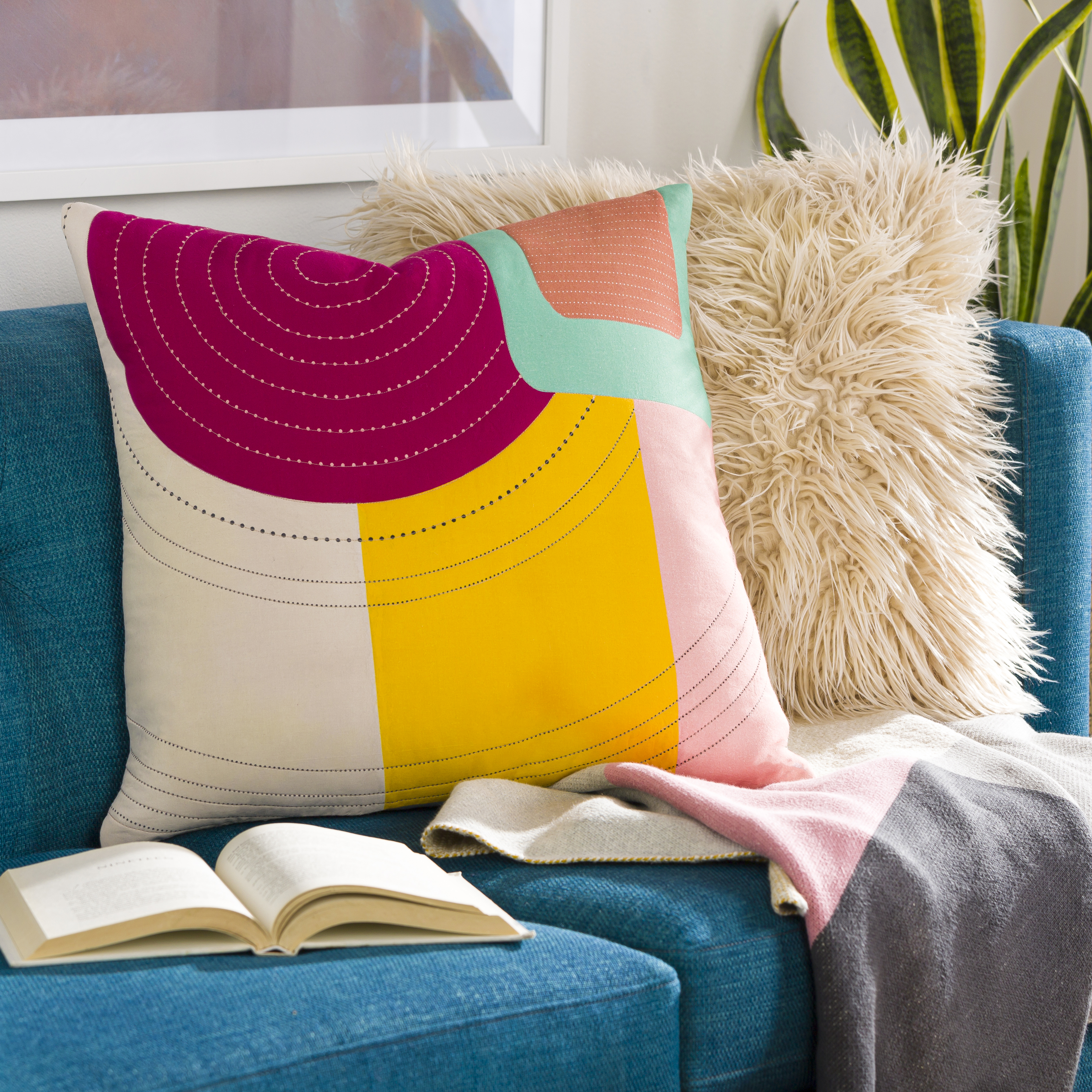 """Ellie - ELL-002 - 20"""" x 20"""" - pillow cover only"""