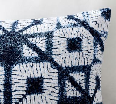 "Sunbrella(R) Cleon Shibori Jacquard Indoor/Outdoor Pillow, 22 x 22"", Blue Multi"