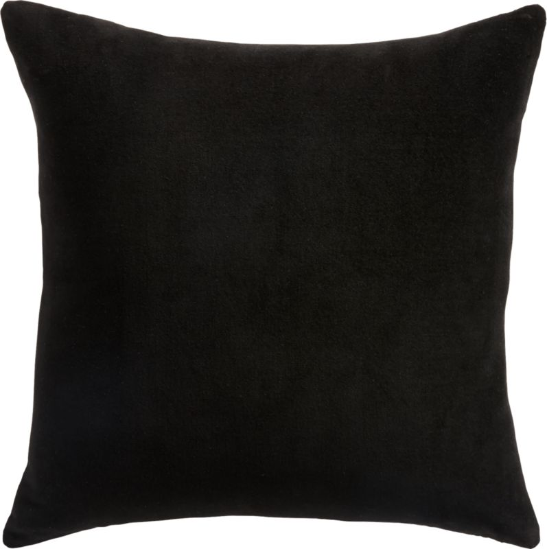 """18"""" Wings Black and White Pillow with Down-Alternative Insert"""