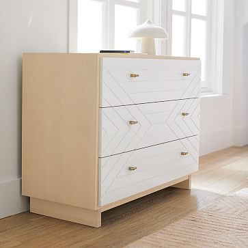 Cora Carved Dresser, Natural + Simply White, WE Kids