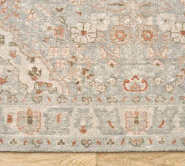 Henri Handwoven Printed Wool Rug, 9 x 12', Gray Multi