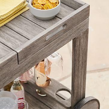 Portside Bar Cart, Driftwood