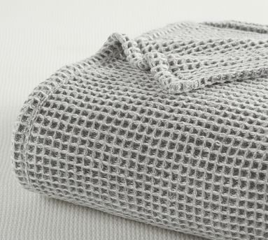 Loden Waffle Weave Blanket, King/Cal. King