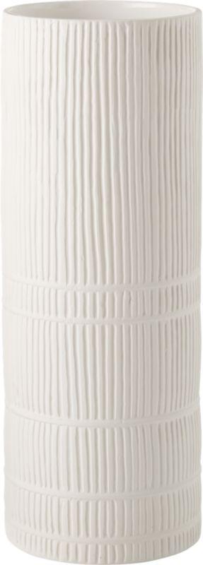 Cinch White Cylinder Vase