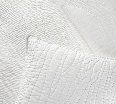 Belgian Flax Linen Handcrafted Sham, Euro, Midnight