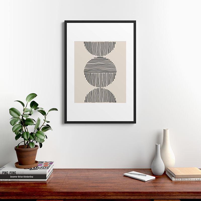 "Evening Lines by Urban Wild Studio, Modern Framed Art Print, Black, 24"" x 36"""