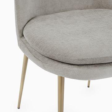 Finley Low Back Dining Chair,Individual, Distressed Velvet, Burnt Umber, Light Bronze