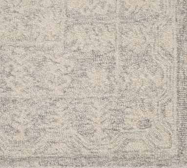 Randi Rug , 10 x 14, White/Blue