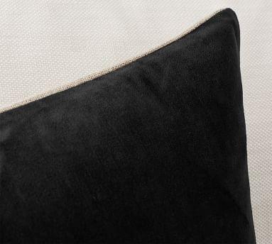 """Velvet Linen Pillow Cover, 20 x 20"""", Taupe"""