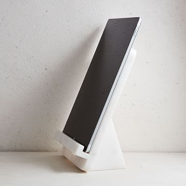 Marble Cookbook Stand, White