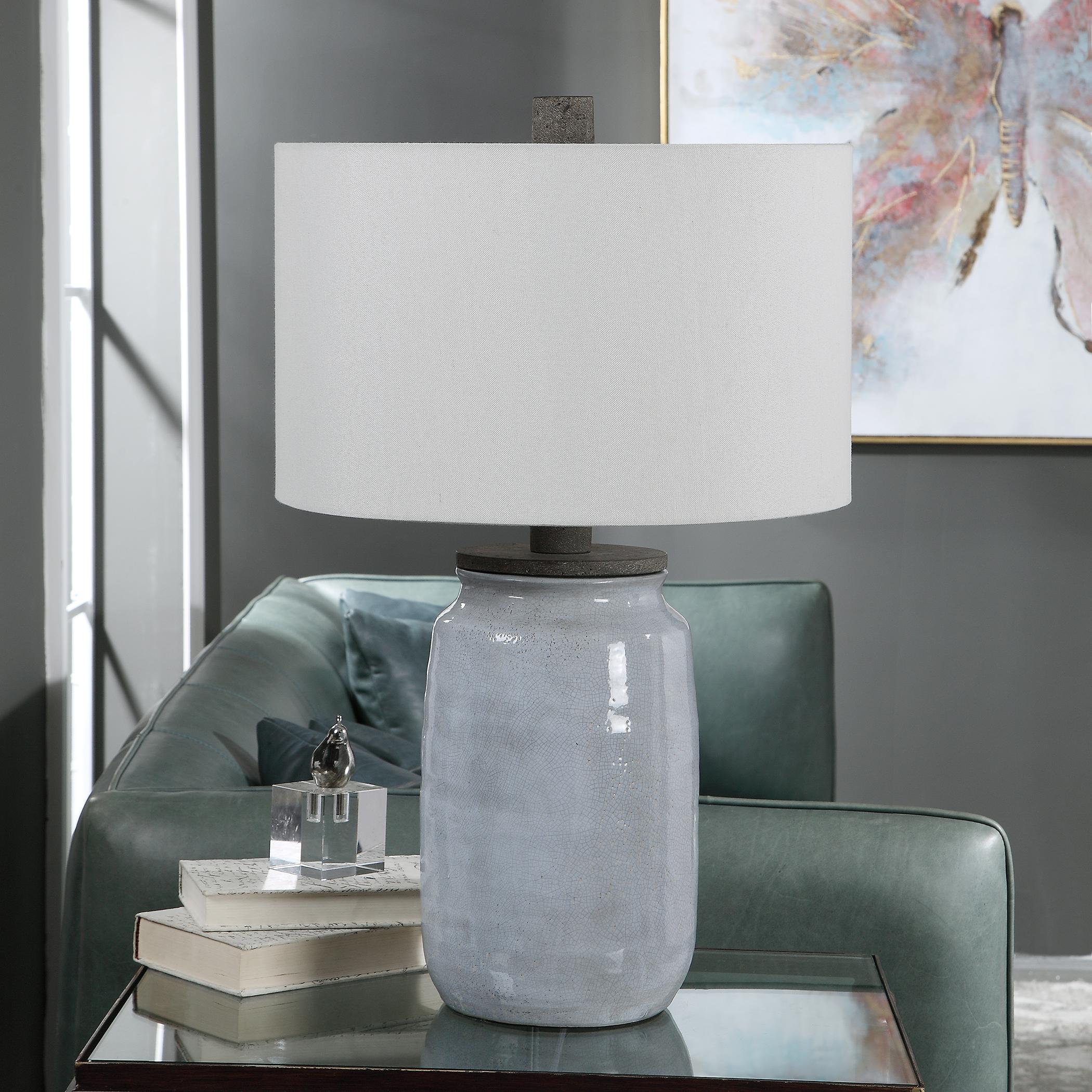 Dimitri Light Blue Table Lamp