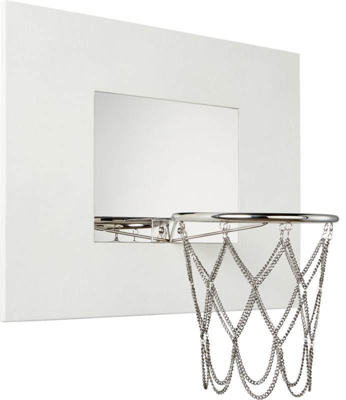 White Leather Basketball Hoop