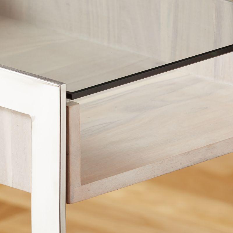 Vista Glass-Top Desk