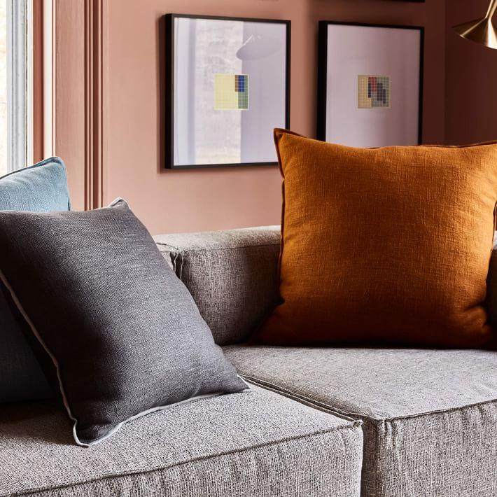 """Classic Linen Pillow Cover, 20"""" x 20"""", Golden Oak"""