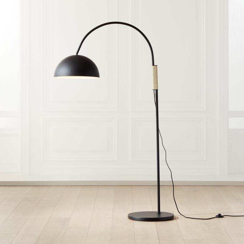 Jett Black Arched Floor Lamp