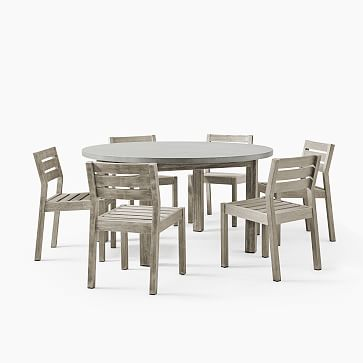 Concrete Round Dining Table 6 Solid, Concrete Round Dining Table For 6
