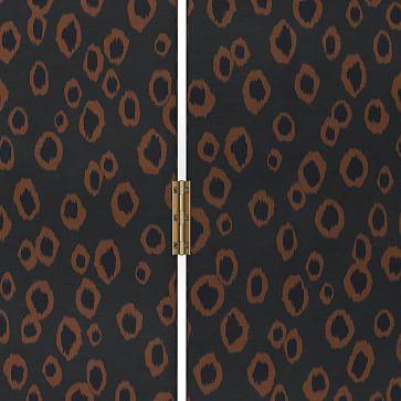 Tiered Cecilia Screen, Leopard Spots, Light Flax