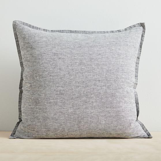 Hand printed * 2x Elegant Linen pillow cover wedding
