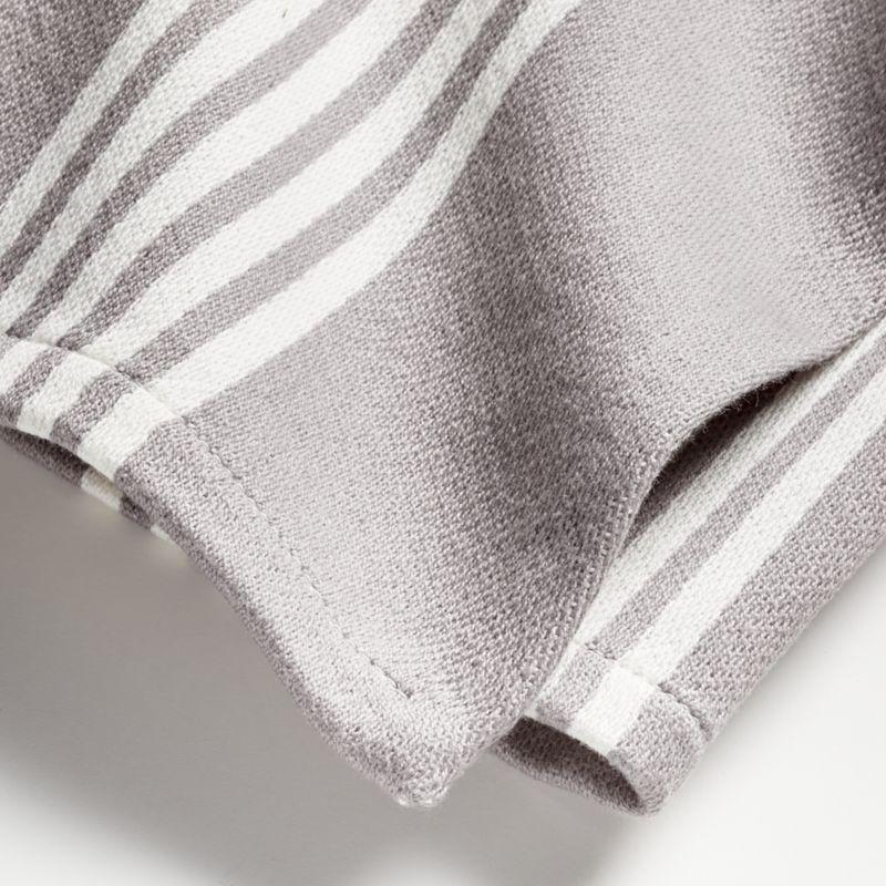 Grey Stripe Dish Towels, Set of 2