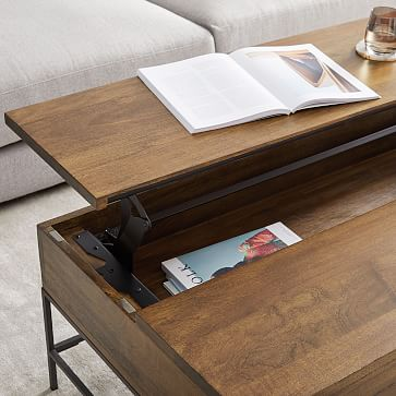 Industrial Storage Side Table, Raw Mango