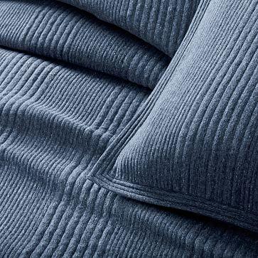 Cotton Cloud Jersey Duvet, Twin, Midnight