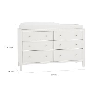 Parker Extra-Wide Dresser & Topper, Simply White, In-Home Delivery