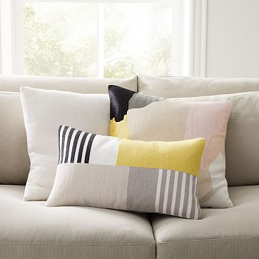 """Abstract Art Palette Pillow Cover, 20""""x20"""", Citrus Yellow"""