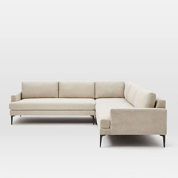 Andes Petite Sectional Set 43: Left Arm 2.5 Seater Sofa, Corner, Right Arm 2.5 Seater Sofa, Poly, Distressed Velvet, Rust, Blackened Brass