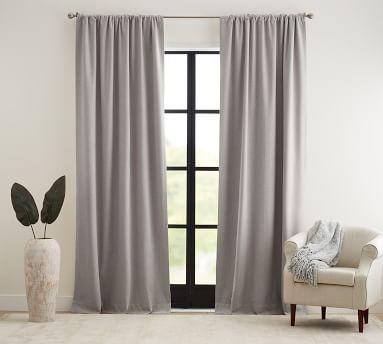 "Peace & Quiet Noise-Reducing Curtain, 50 x 96"", Dark Flax"