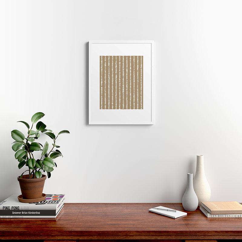 "Simple Hand Drawn Pattern X by Alisa Galitsyna, Modern Framed Art Print, White, 18"" x 24"""